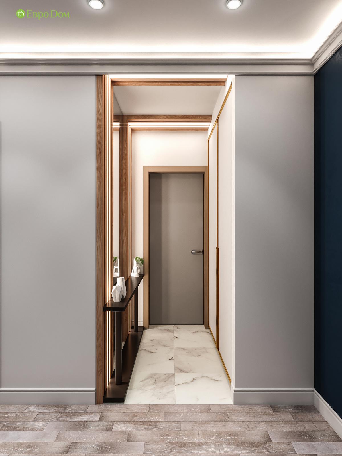 Дизайн двухкомнатной квартиры 60 кв. м в современном стиле. Фото 017