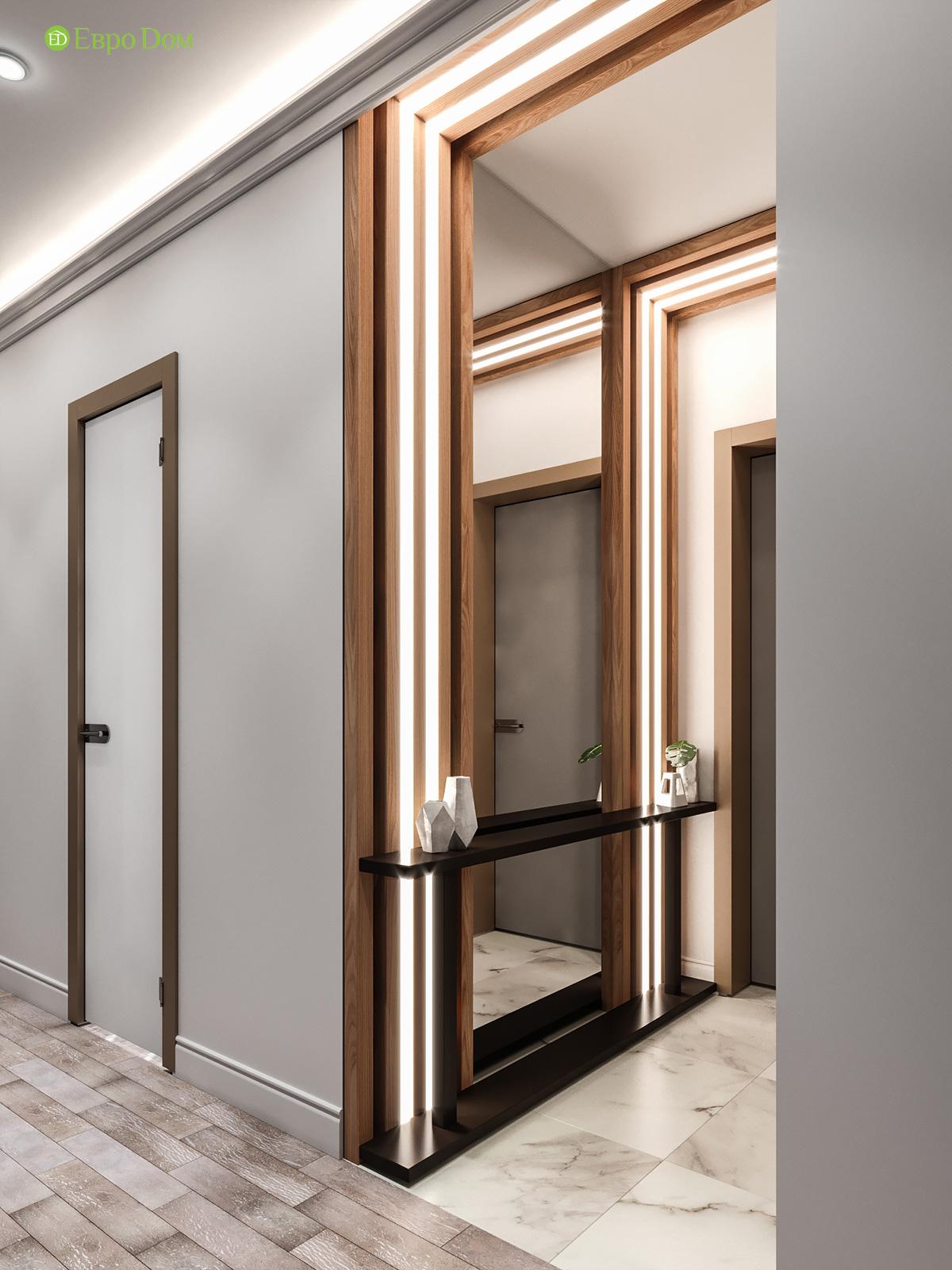 Дизайн двухкомнатной квартиры 60 кв. м в современном стиле. Фото 018