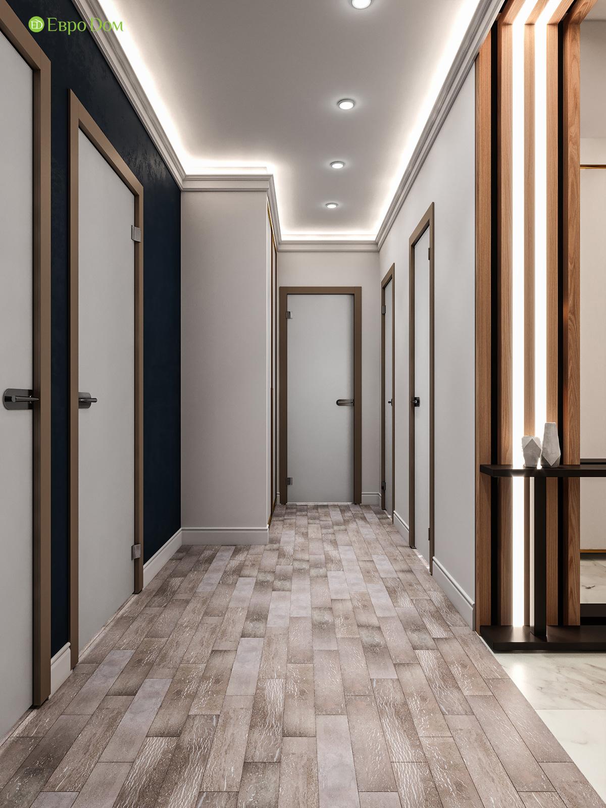 Дизайн двухкомнатной квартиры 60 кв. м в современном стиле. Фото 019