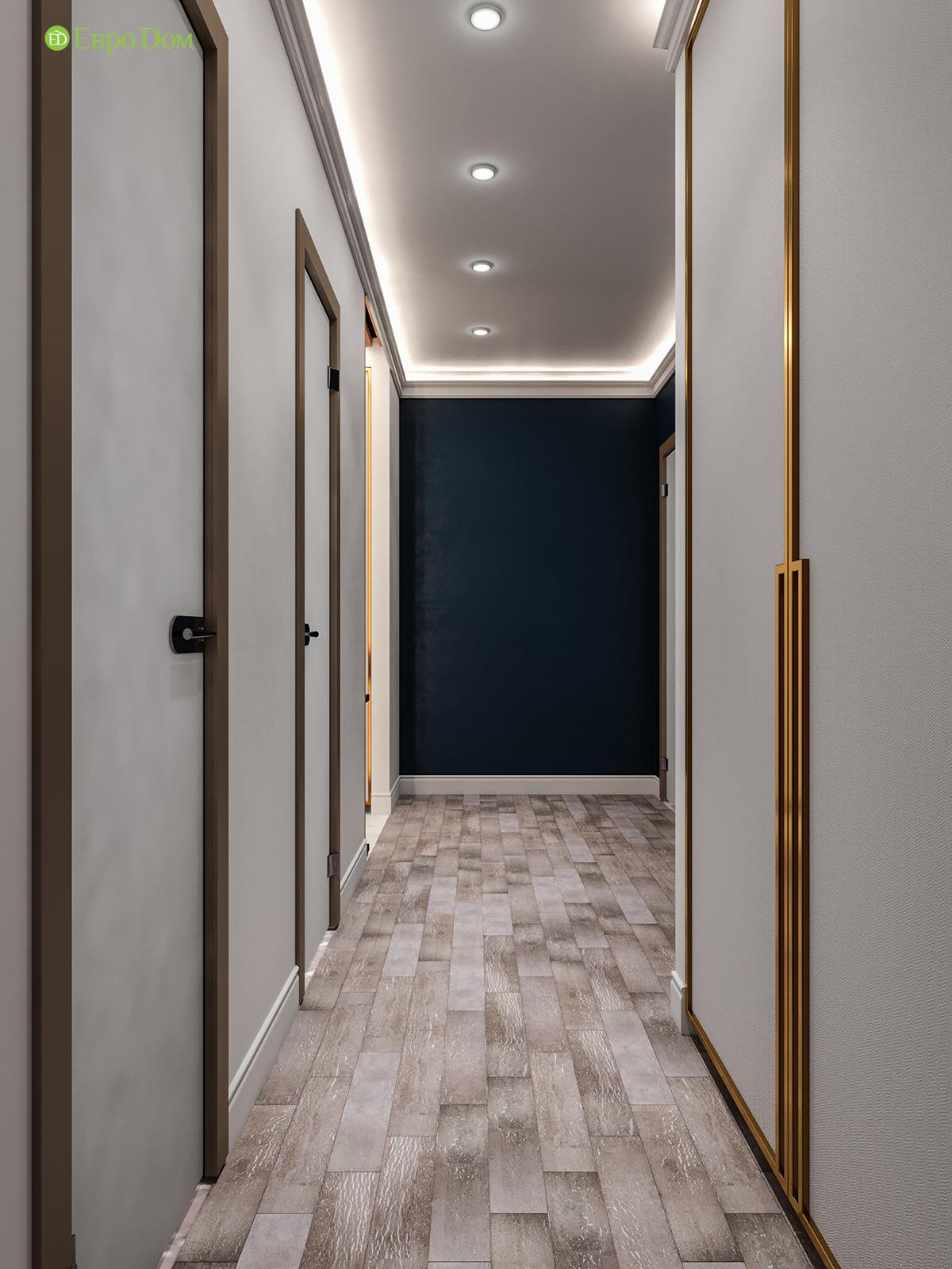 Дизайн двухкомнатной квартиры 60 кв. м в современном стиле. Фото 021