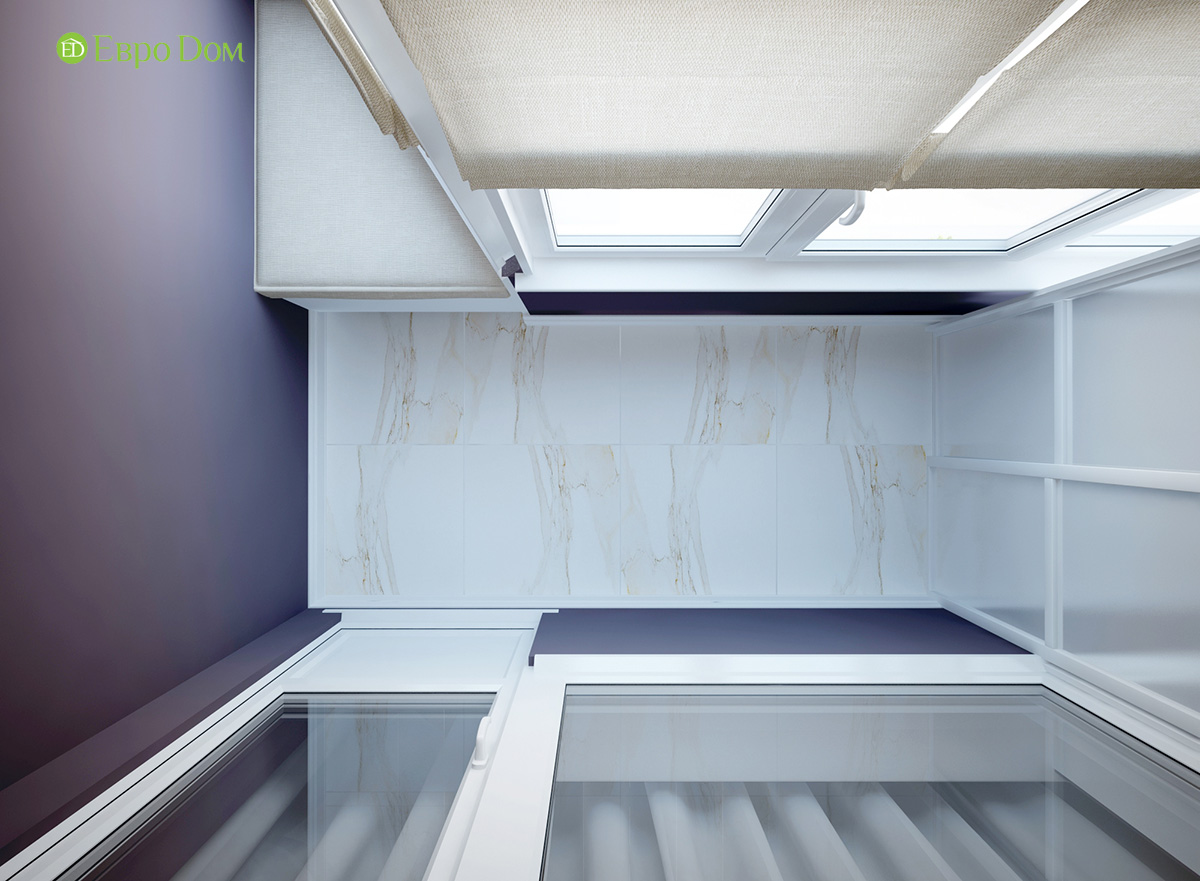 Дизайн двухкомнатной квартиры 60 кв. м в современном стиле. Фото 022