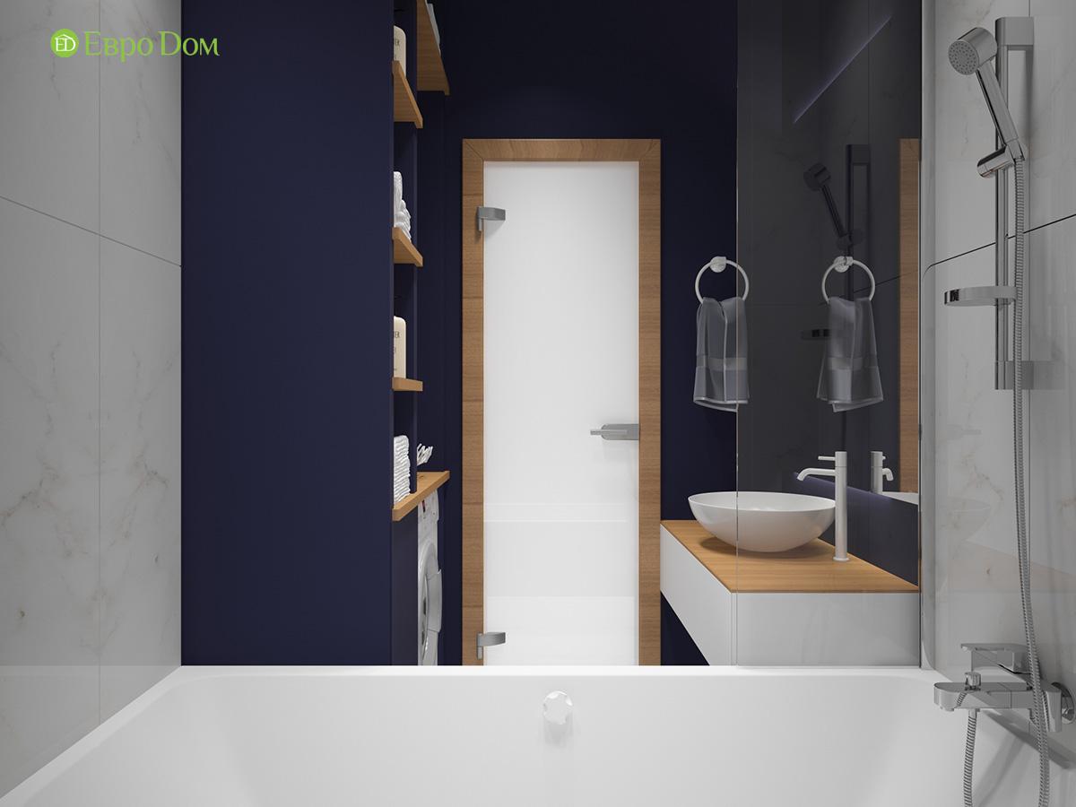 Дизайн двухкомнатной квартиры 60 кв. м в современном стиле. Фото 024