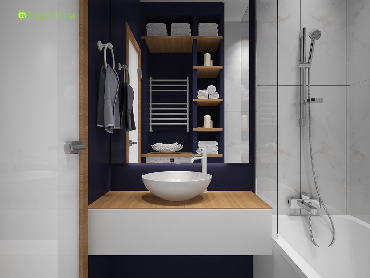 Дизайн двухкомнатной квартиры 60 кв. м в современном стиле. Фото 027