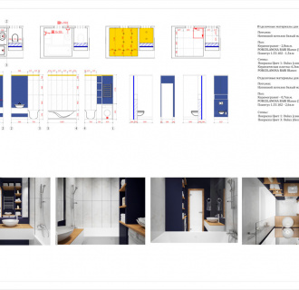 Дизайн двухкомнатной квартиры 60 кв. м в современном стиле. Фото проекта