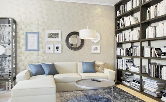 Дизайн интерьера трехкомнатной квартиры 95 кв.м. по адресу г. Москва, ул. Маршала Захарова, д. 3, ЖК «Маршала Захарова 7». Фото 1