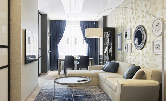 Дизайн интерьера трехкомнатной квартиры 95 кв.м. по адресу г. Москва, ул. Маршала Захарова, д. 3, ЖК «Маршала Захарова 7». Фото 2