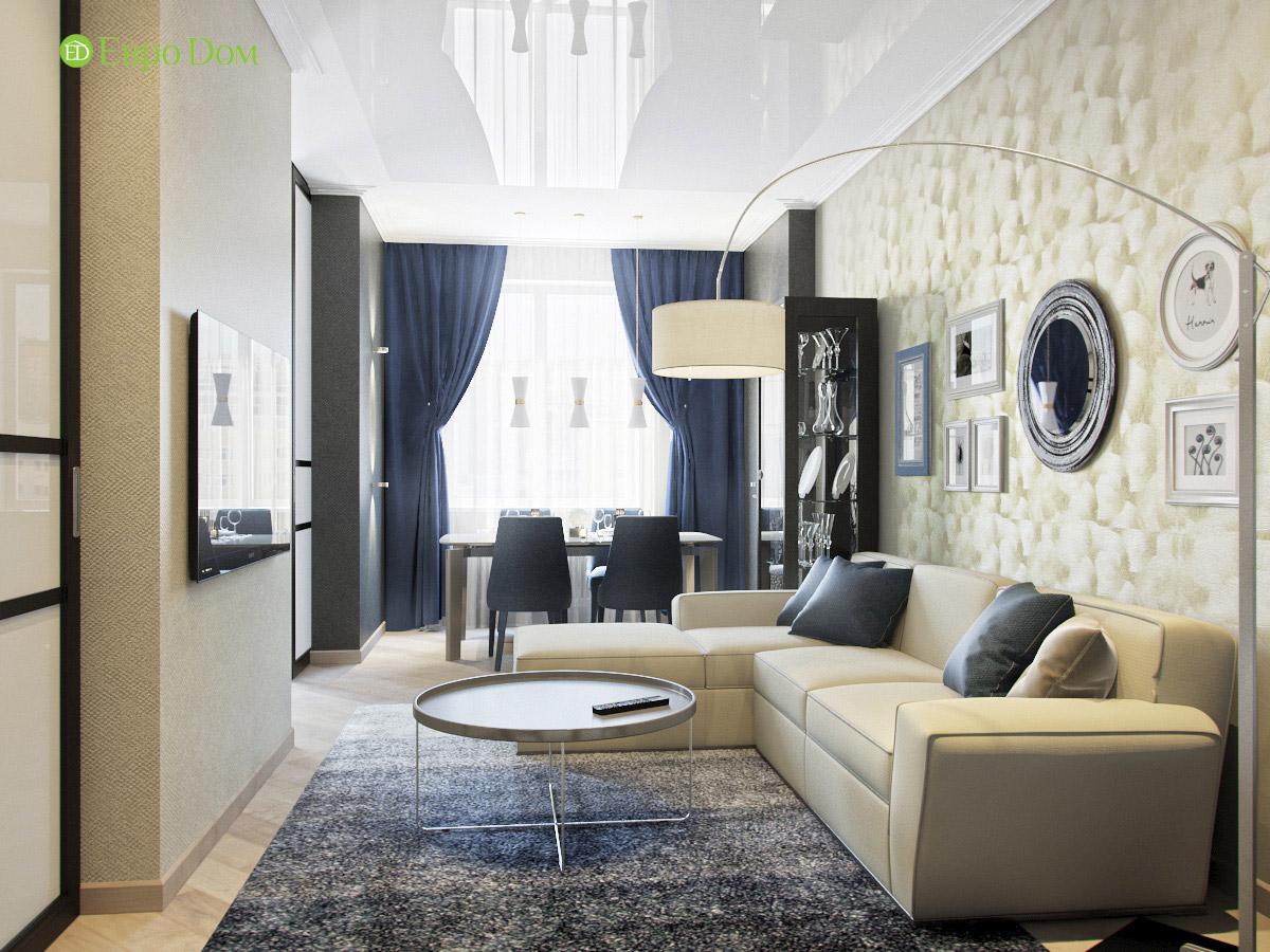 Дизайн трехкомнатной квартиры 95 кв. м в современном стиле. Фото 03