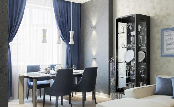 Дизайн интерьера трехкомнатной квартиры 95 кв.м. по адресу г. Москва, ул. Маршала Захарова, д. 3, ЖК «Маршала Захарова 7». Фото 3