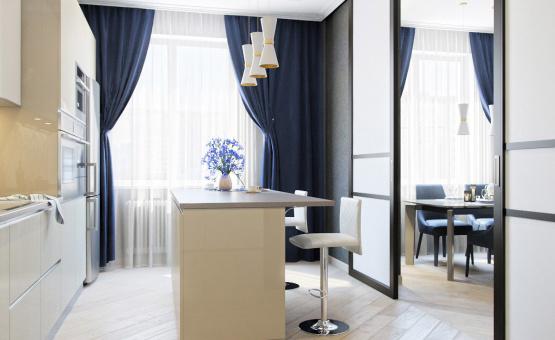 Дизайн интерьера трехкомнатной квартиры 95 кв.м. по адресу г. Москва, ул. Маршала Захарова, д. 3, ЖК «Маршала Захарова 7». Фото 4