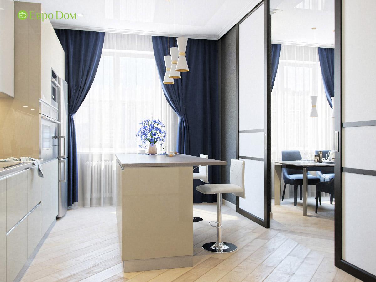 Дизайн трехкомнатной квартиры 95 кв. м в современном стиле. Фото 05