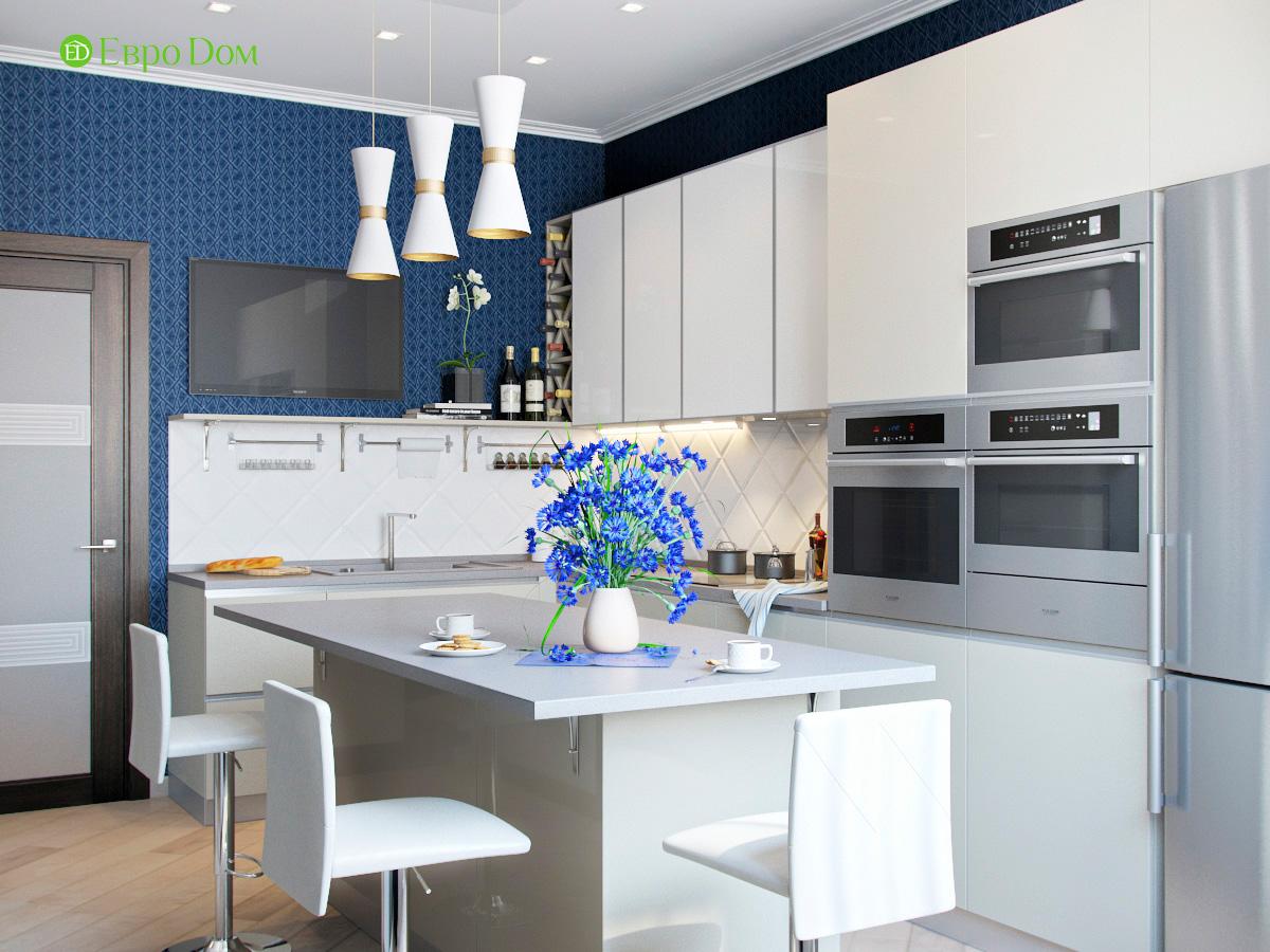 Дизайн трехкомнатной квартиры 95 кв. м в современном стиле. Фото 06