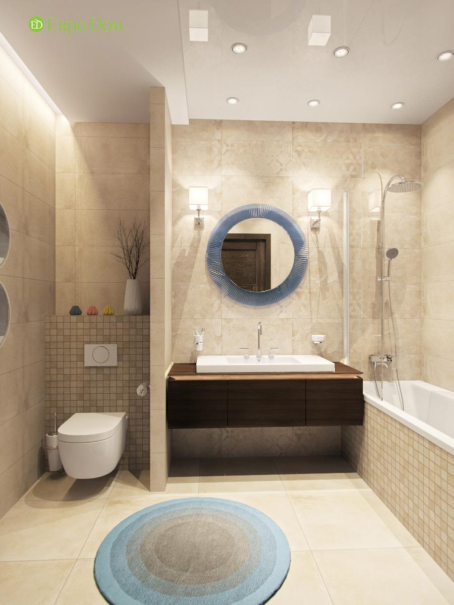 Дизайн трехкомнатной квартиры 95 кв. м в современном стиле. Фото 012