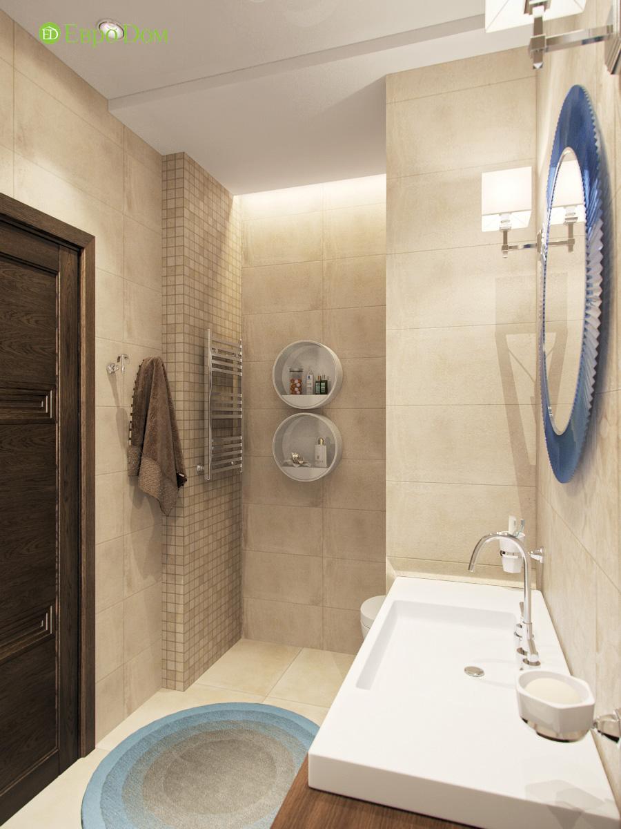 Дизайн трехкомнатной квартиры 95 кв. м в современном стиле. Фото 013