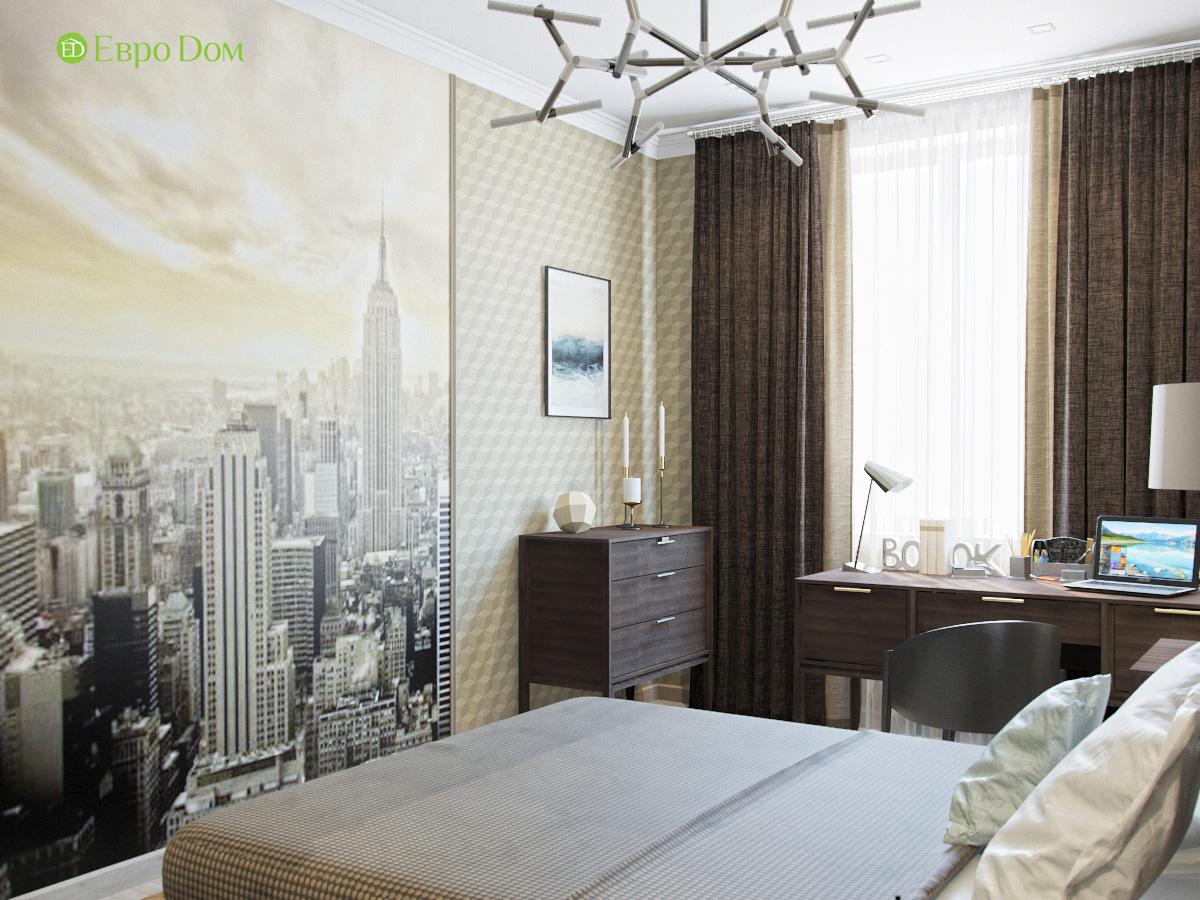 Дизайн трехкомнатной квартиры 95 кв. м в современном стиле. Фото 016