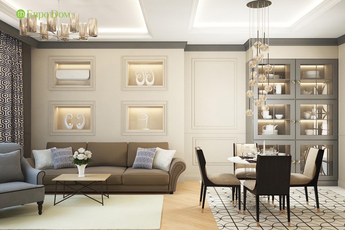 Дизайн трехкомнатной квартиры 82 кв. м в стиле неоклассика. Фото 02