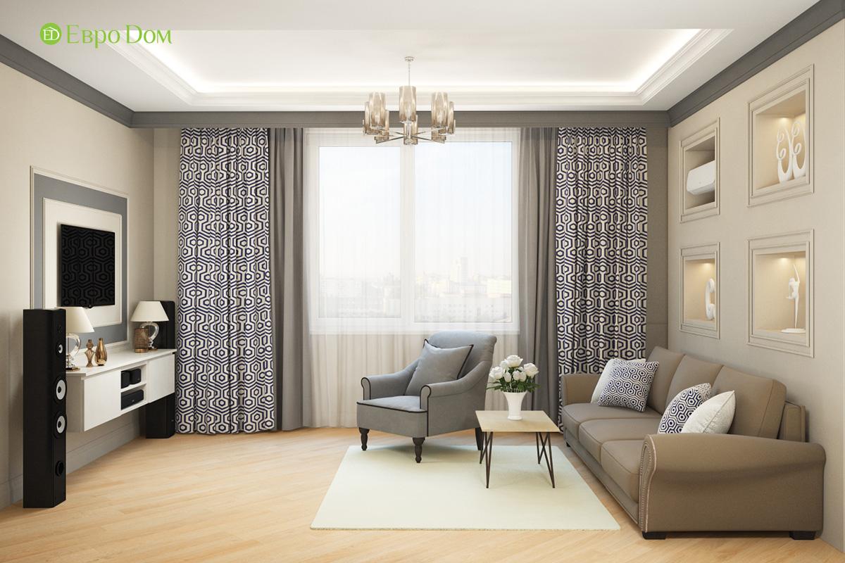Дизайн трехкомнатной квартиры 82 кв. м в стиле неоклассика. Фото 04
