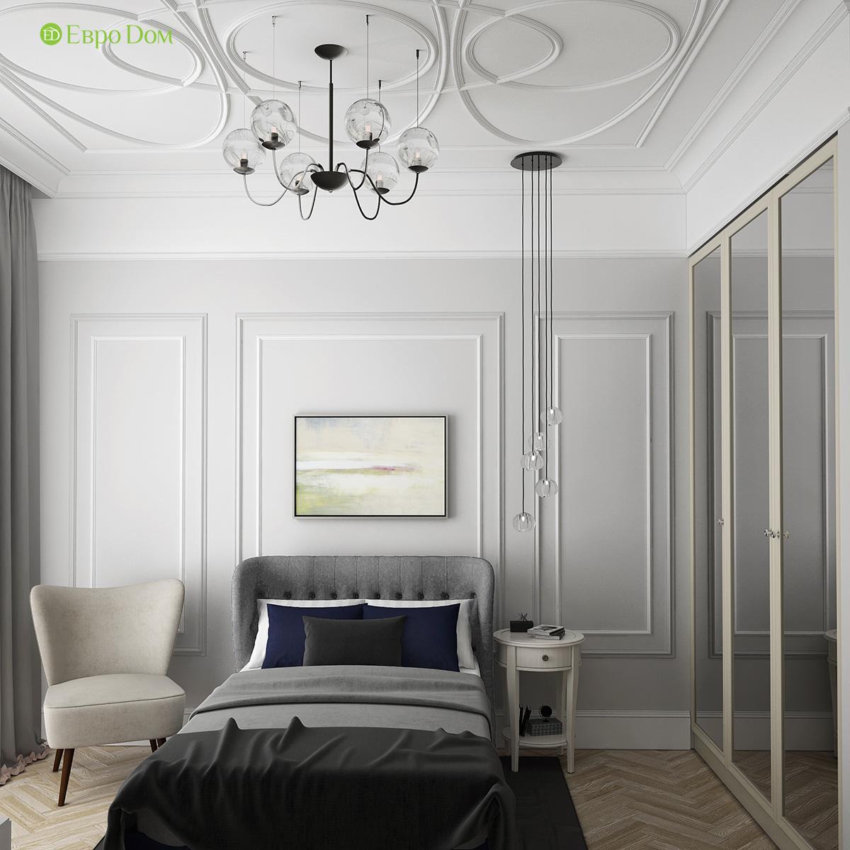 Дизайн трехкомнатной квартиры 82 кв. м в стиле неоклассика. Фото 010