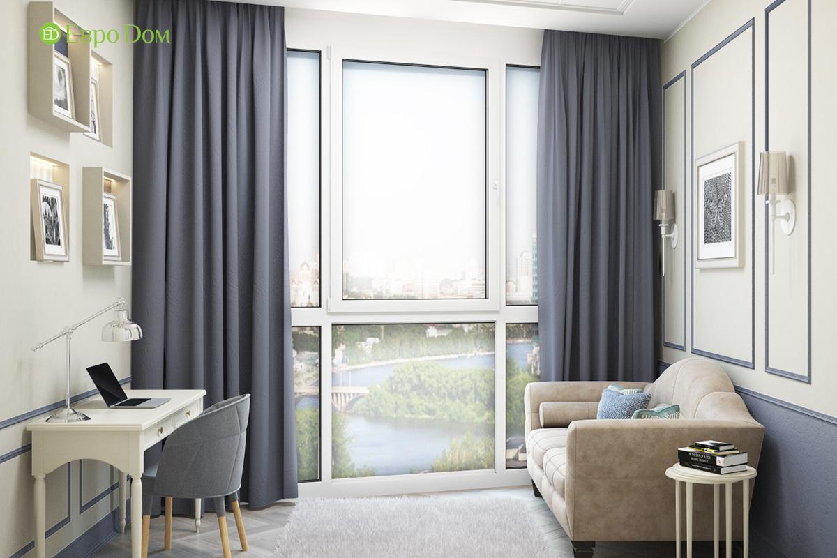 Дизайн трехкомнатной квартиры 82 кв. м в стиле неоклассика. Фото 015