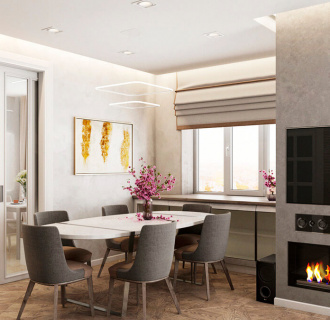 Дизайн четырехкомнатной квартиры 132 кв. м в современном стиле. Фото проекта