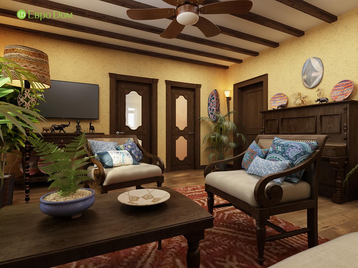 Декор гостиной в колониальном стиле