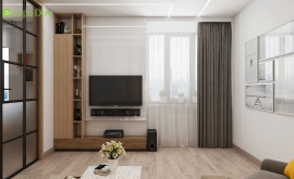 Дизайн интерьера четырехкомнатной квартиры 106 кв.м. по адресу МО, г. Видное, ул. Олимпийская деревня, д. 1, корп, 1, ЖК «Битцевские холмы». Фото 1