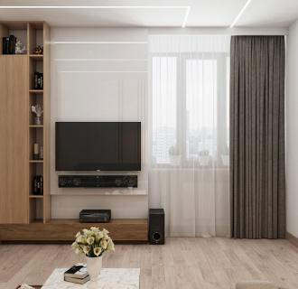 Дизайн четырехкомнатной квартиры 106 кв. м в современном стиле. Фото проекта