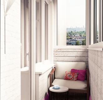 Дизайн интерьера двухкомнатной квартиры 46 кв. м в стиле арт-деко. Фото проекта