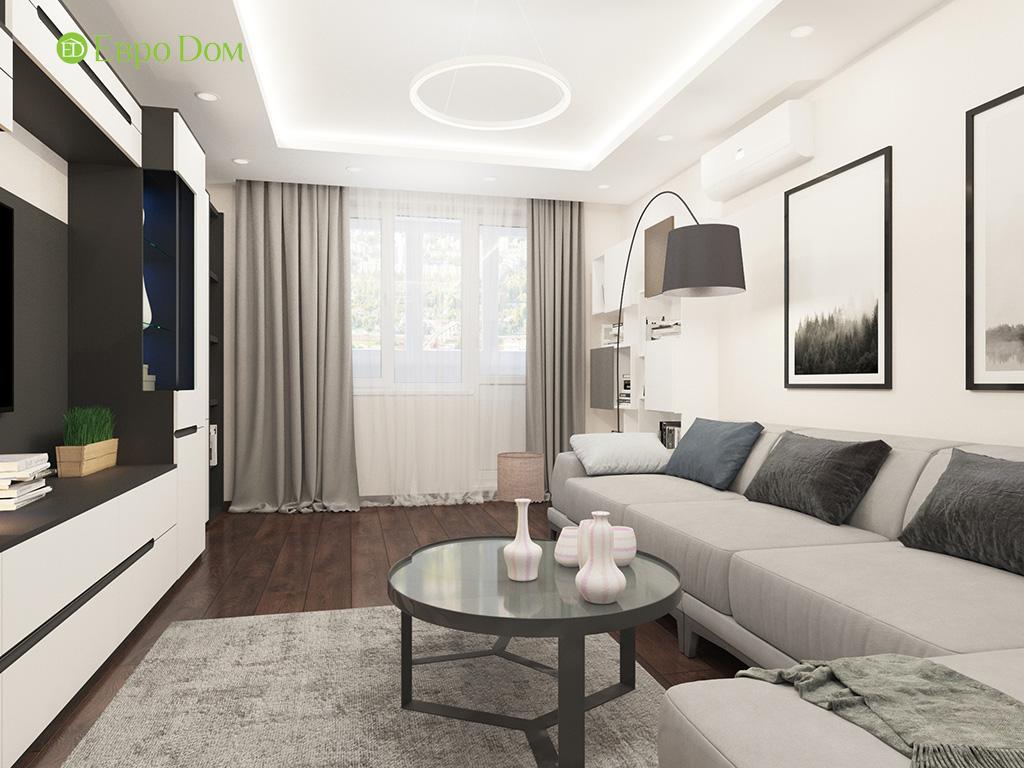 Дизайн интерьера двухкомнатной квартиры 70 кв. м в современном стиле. Фото 02
