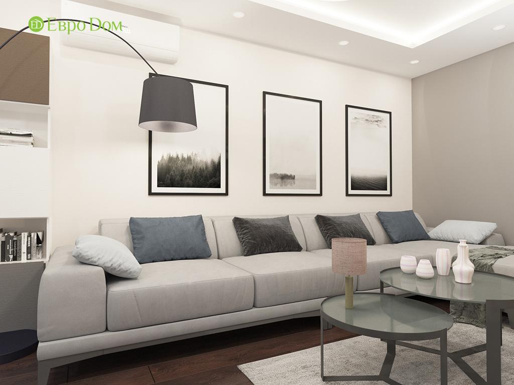 Дизайн интерьера двухкомнатной квартиры 70 кв. м в современном стиле. Фото 03