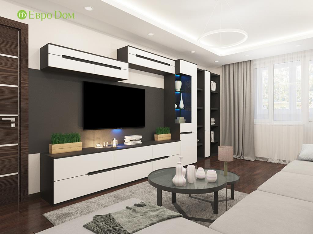 Дизайн интерьера двухкомнатной квартиры 70 кв. м в современном стиле. Фото 04