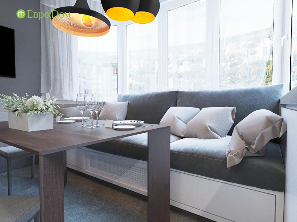 Дизайн интерьера двухкомнатной квартиры 70 кв. м в современном стиле. Фото 06