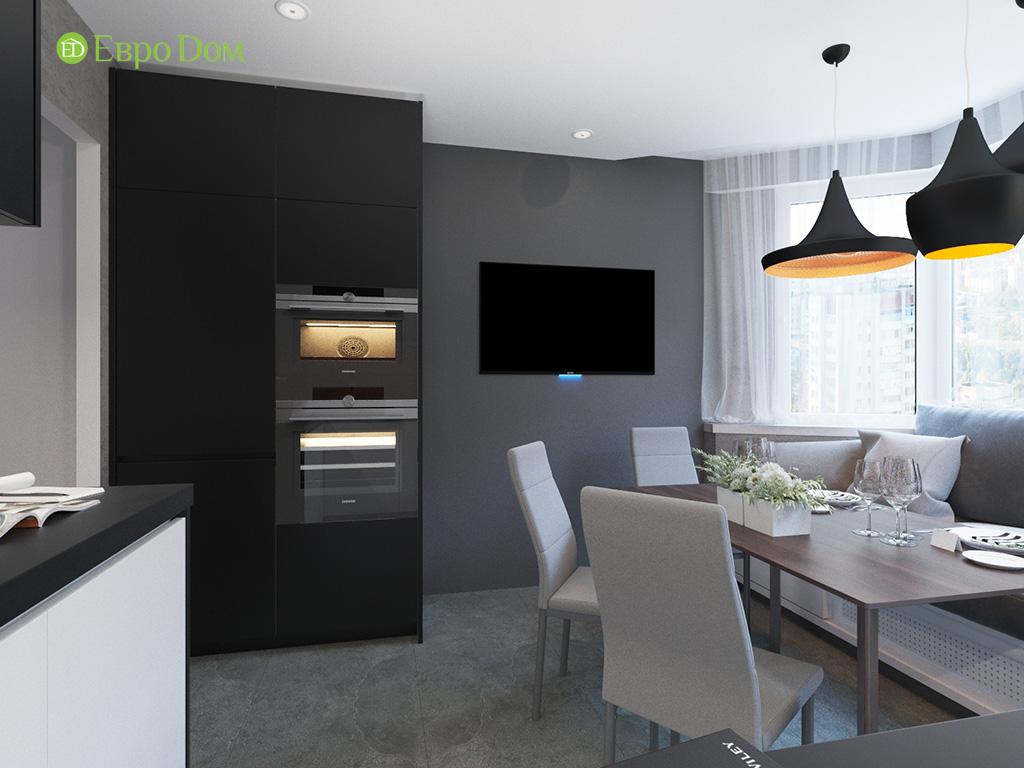 Дизайн интерьера двухкомнатной квартиры 70 кв. м в современном стиле. Фото 08