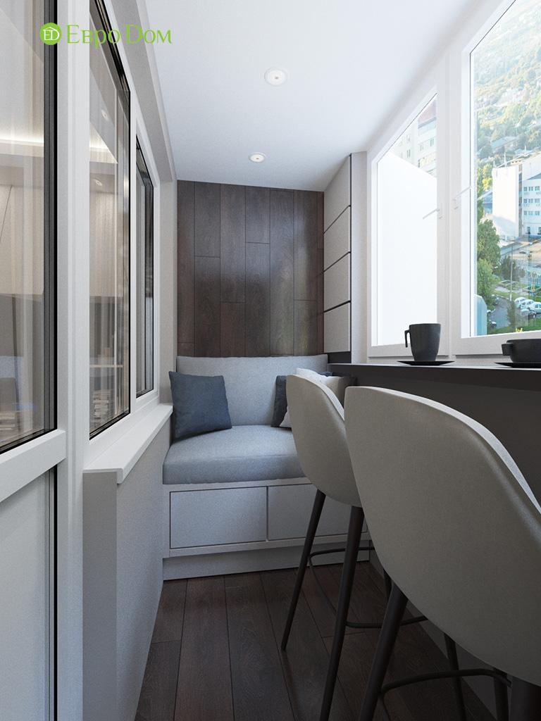 Дизайн интерьера двухкомнатной квартиры 70 кв. м в современном стиле. Фото 010