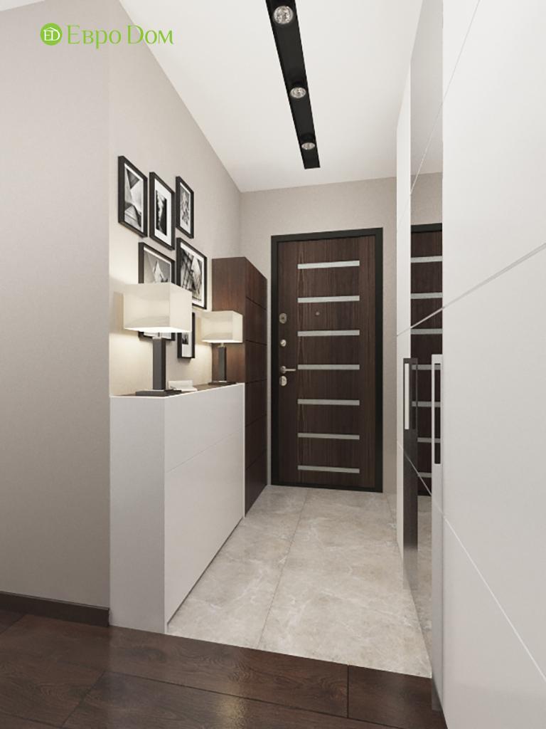 Дизайн интерьера двухкомнатной квартиры 70 кв. м в современном стиле. Фото 011