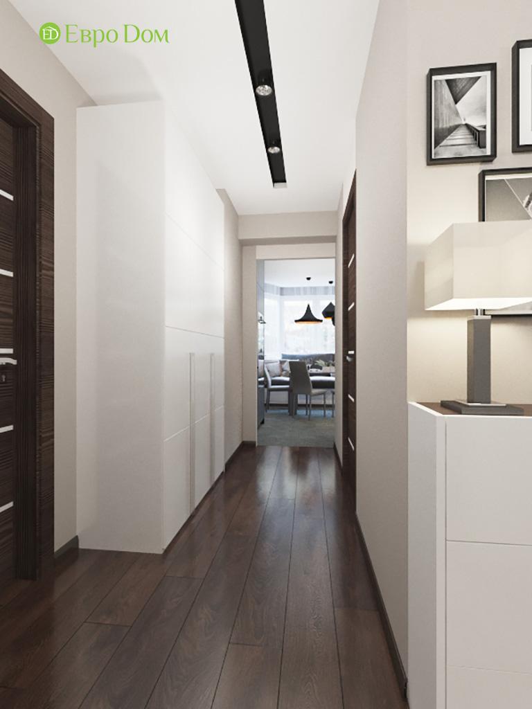 Дизайн интерьера двухкомнатной квартиры 70 кв. м в современном стиле. Фото 012