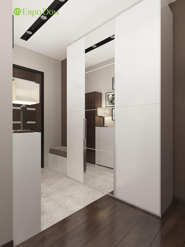 Дизайн интерьера двухкомнатной квартиры 70 кв. м в современном стиле. Фото 013