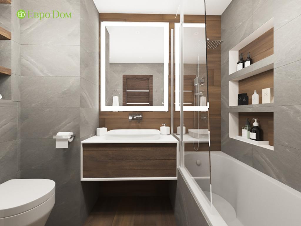 Дизайн интерьера двухкомнатной квартиры 70 кв. м в современном стиле. Фото 015