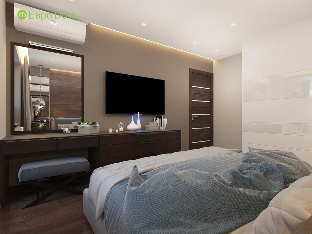Дизайн интерьера двухкомнатной квартиры 70 кв. м в современном стиле. Фото 017