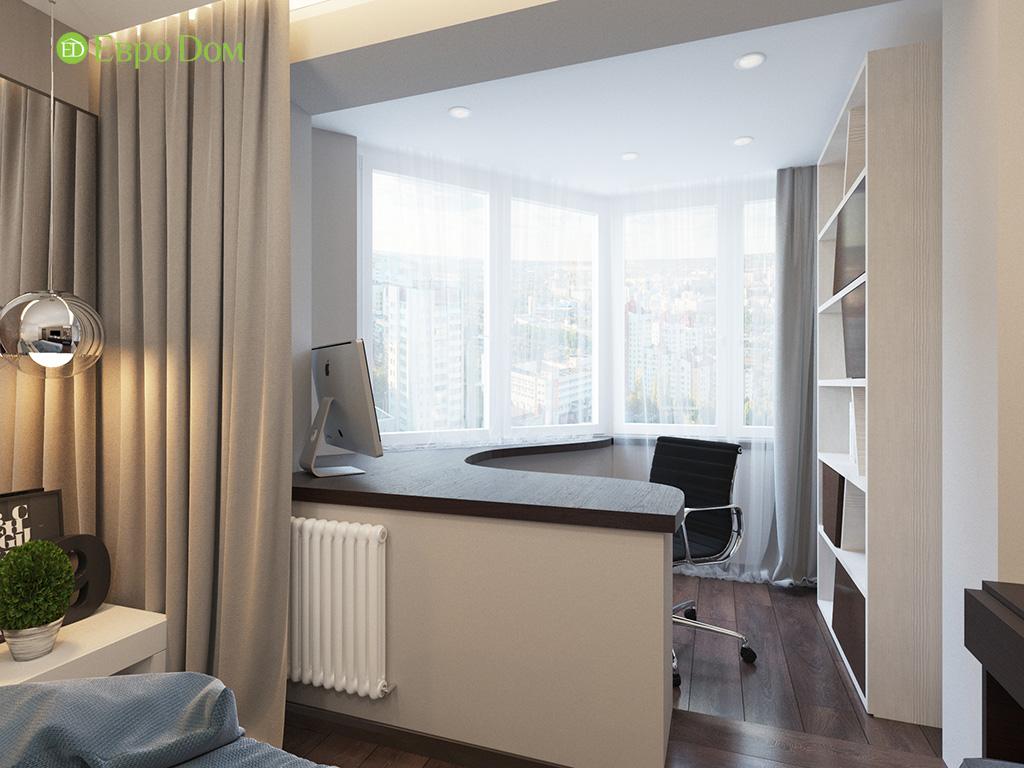 Дизайн интерьера двухкомнатной квартиры 70 кв. м в современном стиле. Фото 018