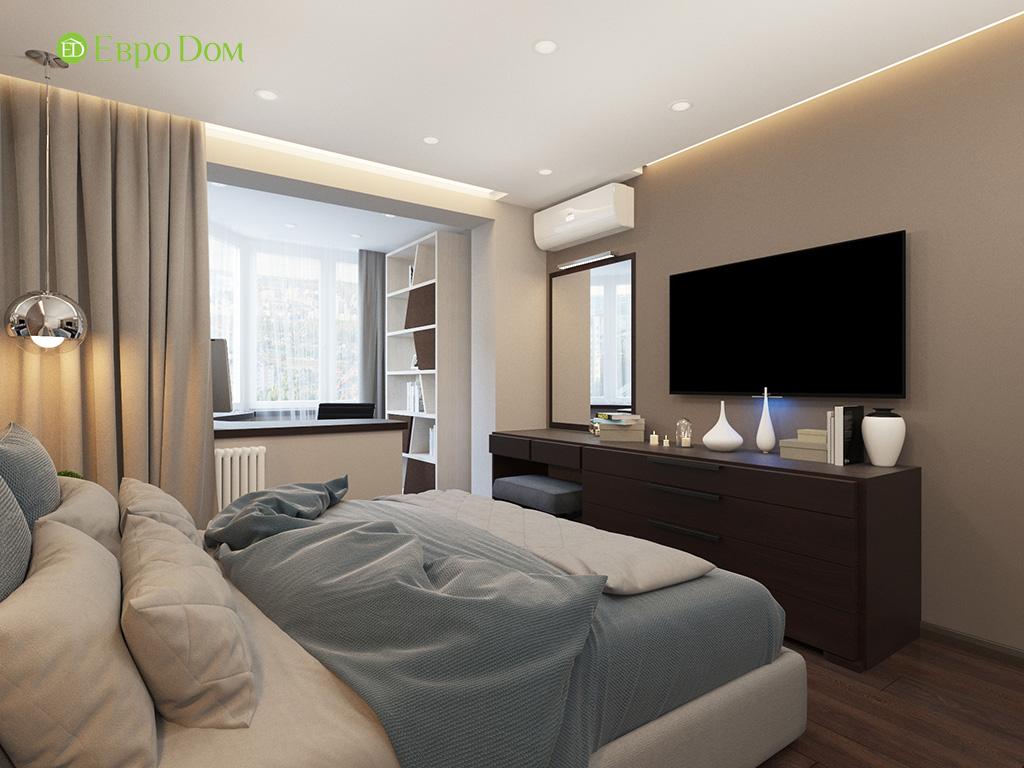 Дизайн интерьера двухкомнатной квартиры 70 кв. м в современном стиле. Фото 019