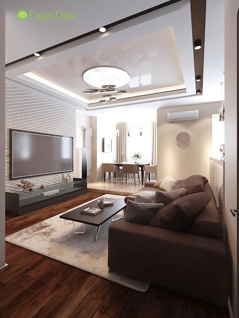 Дизайн интерьера трехкомнатной квартиры 86 кв. м в современном стиле. Фото 02