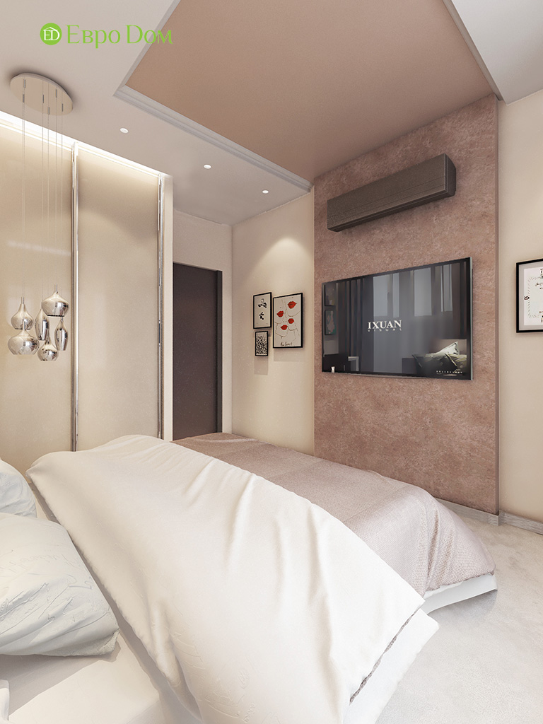 Дизайн интерьера трехкомнатной квартиры 86 кв. м в современном стиле. Фото 06