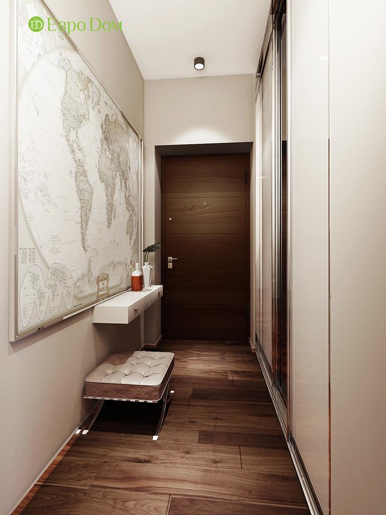 Дизайн интерьера трехкомнатной квартиры 86 кв. м в современном стиле. Фото 012
