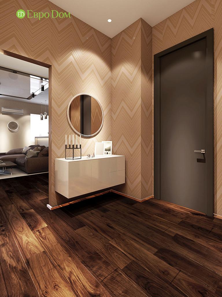 Дизайн интерьера трехкомнатной квартиры 86 кв. м в современном стиле. Фото 015