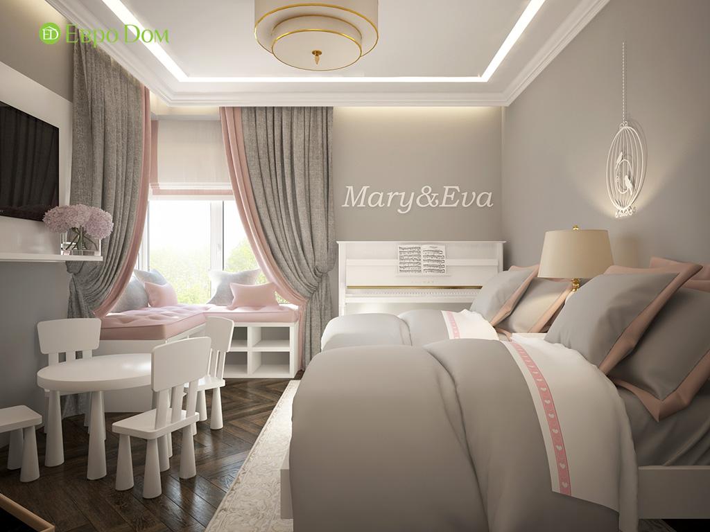 На фото: нежная детская спальня в современном стиле