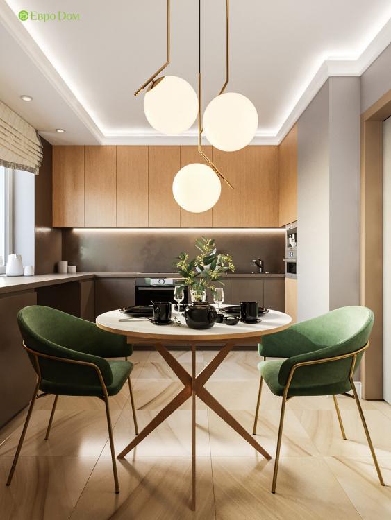 Дизайн-проект панельной двухкомнатной квартиры 60 кв. м в современном стиле.