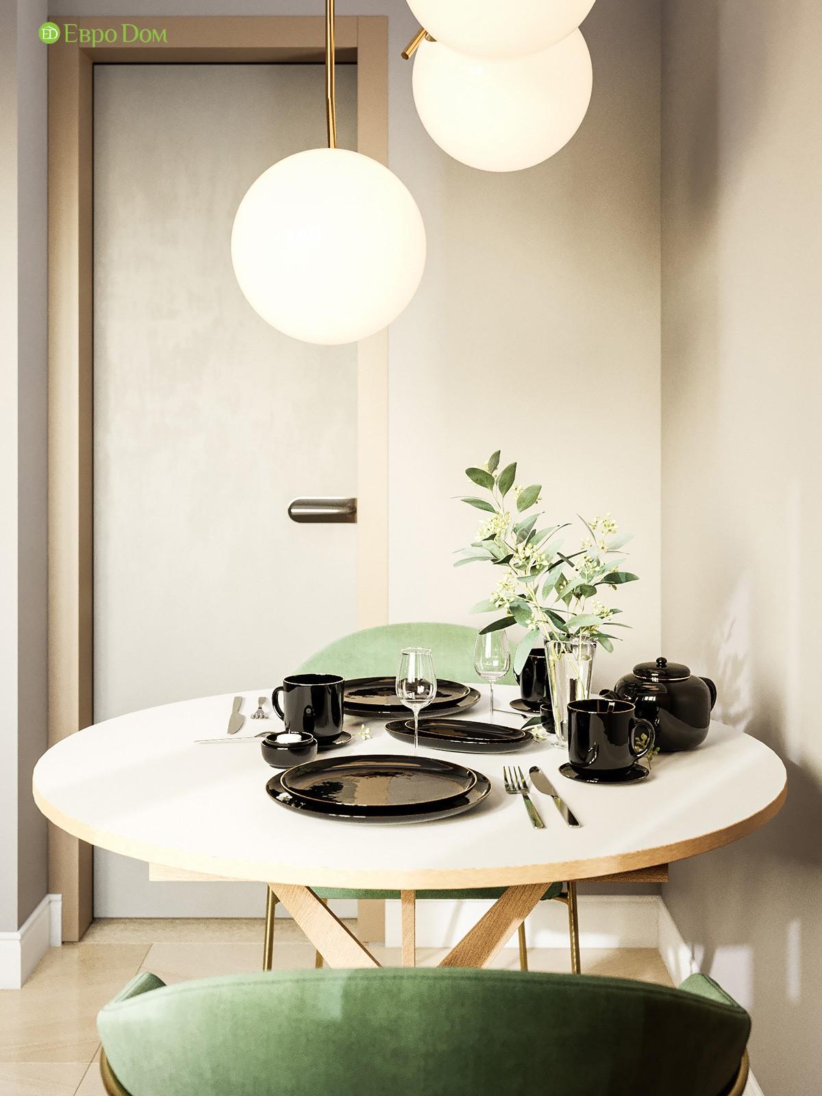 Дизайн-проект кухни в двухкомнатной квартире 60 кв. м в современном стиле