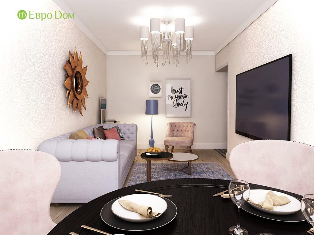 Дизайн двухкомнатной квартиры 45 кв. м в панельном доме