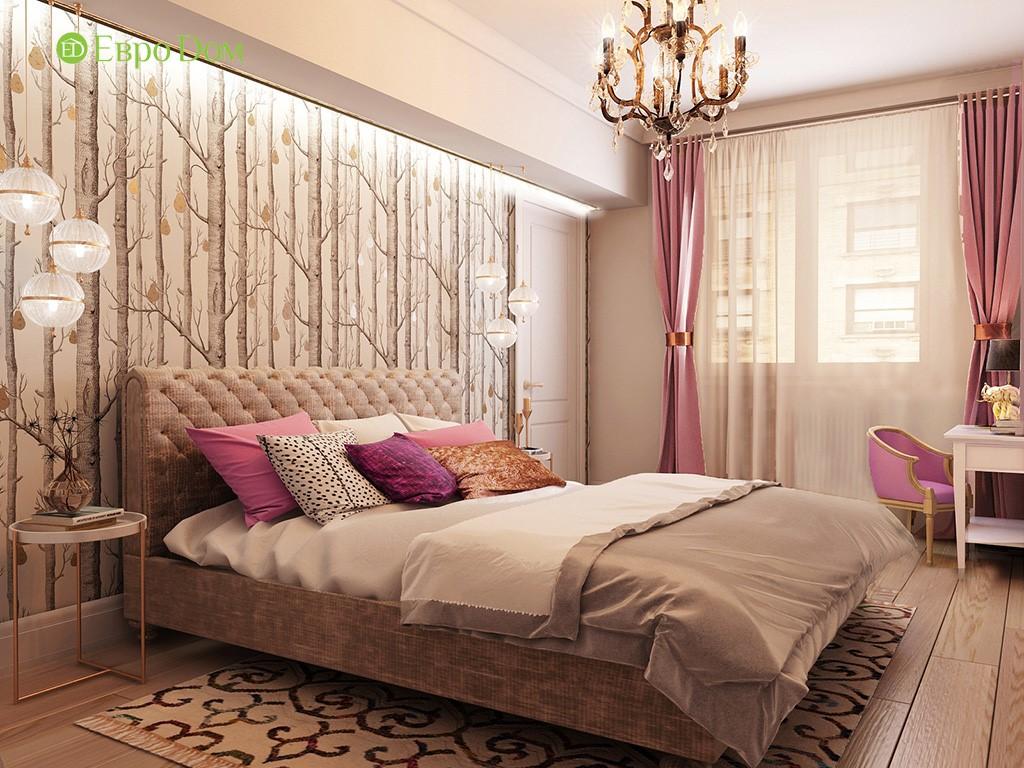Дизайн-проект спальни двухкомнатной квартиры панельного дома