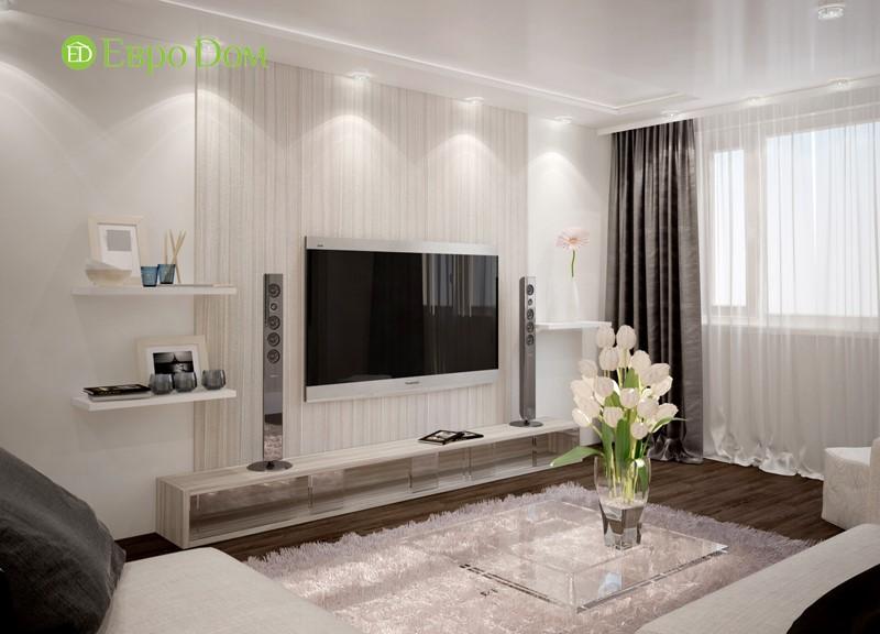Дизайн гостиной панельной двухкомнатной квартиры 60 кв. м